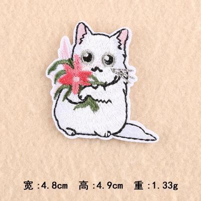 44 pz spedizione gratuita Cartoon gatto ricamato in stoffa Distintivi patch Iron-on o Sew-on (tipi Misti 11 pezzi) Abbigliamento patch accessori di abbigliamento