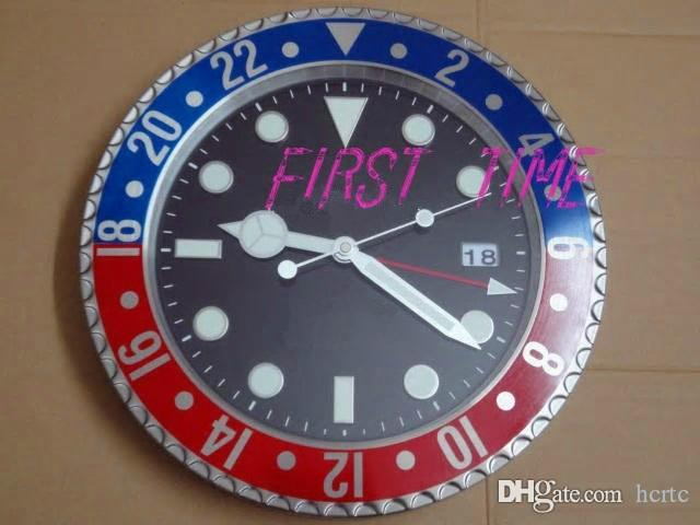 Home Decor wall clock modern design high quality brand new stainless steel luminous face calendars FT-GM006
