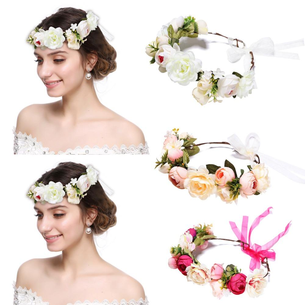 Elegant Red Rose Flower Headband Hair Band for Women/'s Wedding Party Banquet