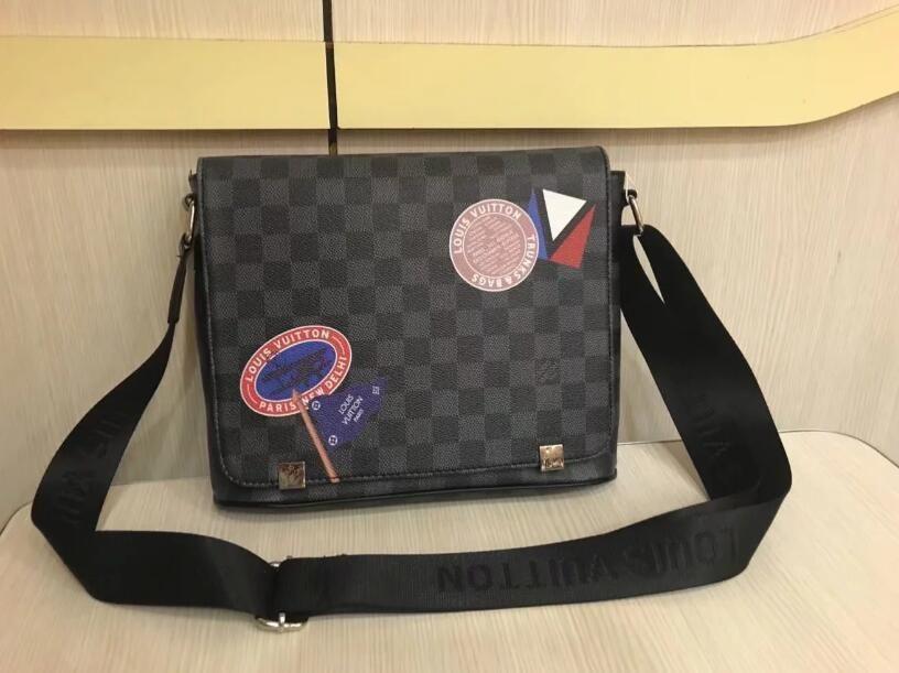 2018 nuove borse famose di cuoio da uomo disegno di modo classico messaggero borsa a tracolla bookbag scuola sacco per cadaveri trasversale valigetta 28CM6