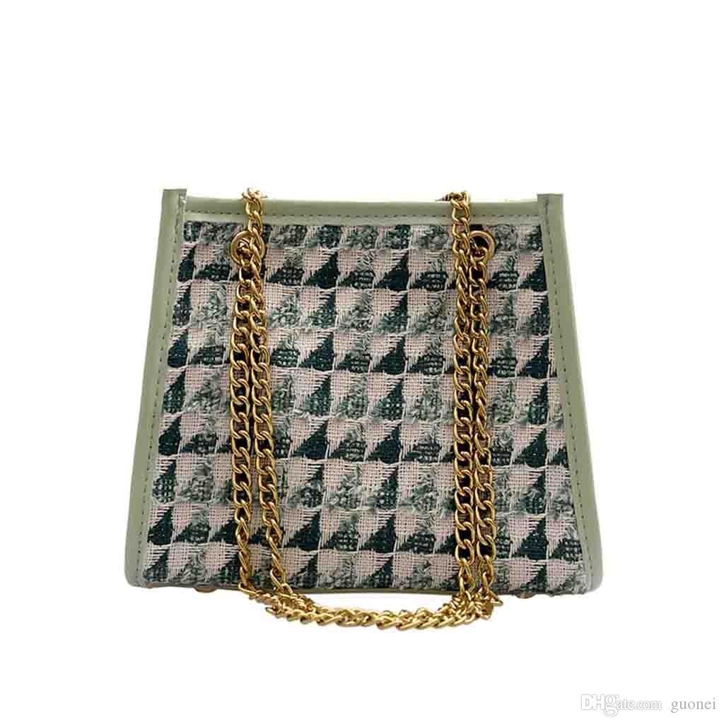 Дизайнер-2019 новый простой контрастный цвет цепи сумка мода повседневная сумка сумки для женщин 2019 bolsa feminina bolso mujer