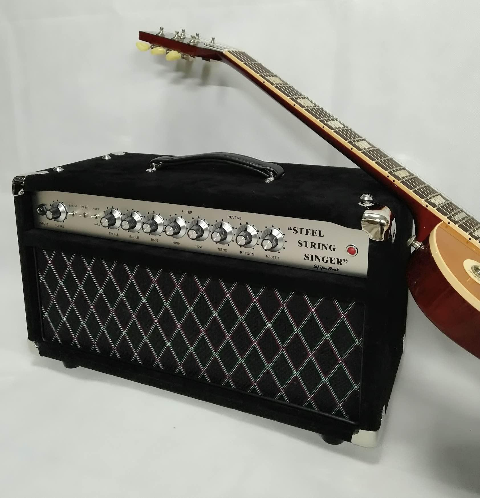 Custom 1983 Tube Guitar Amplifier Head 50W Guitar Amp Tone SSS50 Steel String Singer Valve Handwired Guitar Amplifier Customize Faceplate