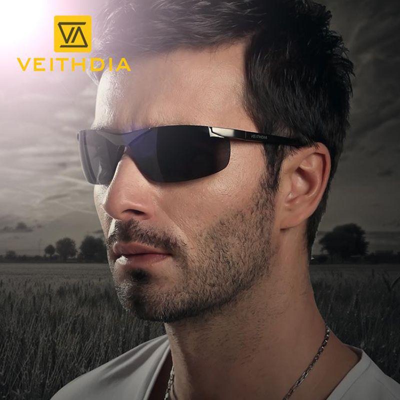 Veithdia Aluminium Magnesium Männer Polarisierte Randlose Sonnenbrille Sport männlichen Brillen Sonnenbrille Goggle Oculos shades für Männer 6501 Y200420