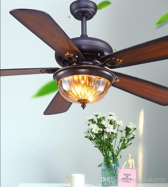 2021 Restaurant Ceiling Fan Pendant Light Living Room American Retro Industrial Remote Control Antique Wood Leaf Fan Lam Llfa From Volvo Dh2010 301 68 Dhgate Com