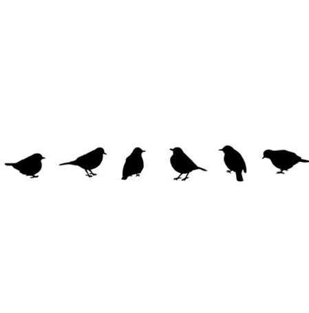 Yeni Varış DIY Uçan Kuşlar Sanat siyah Duvar Çıkartmaları Vinil Çıkarılabilir Çıkartmaları Mural Ev Oda Dekor Adesivo de parede D36JL24