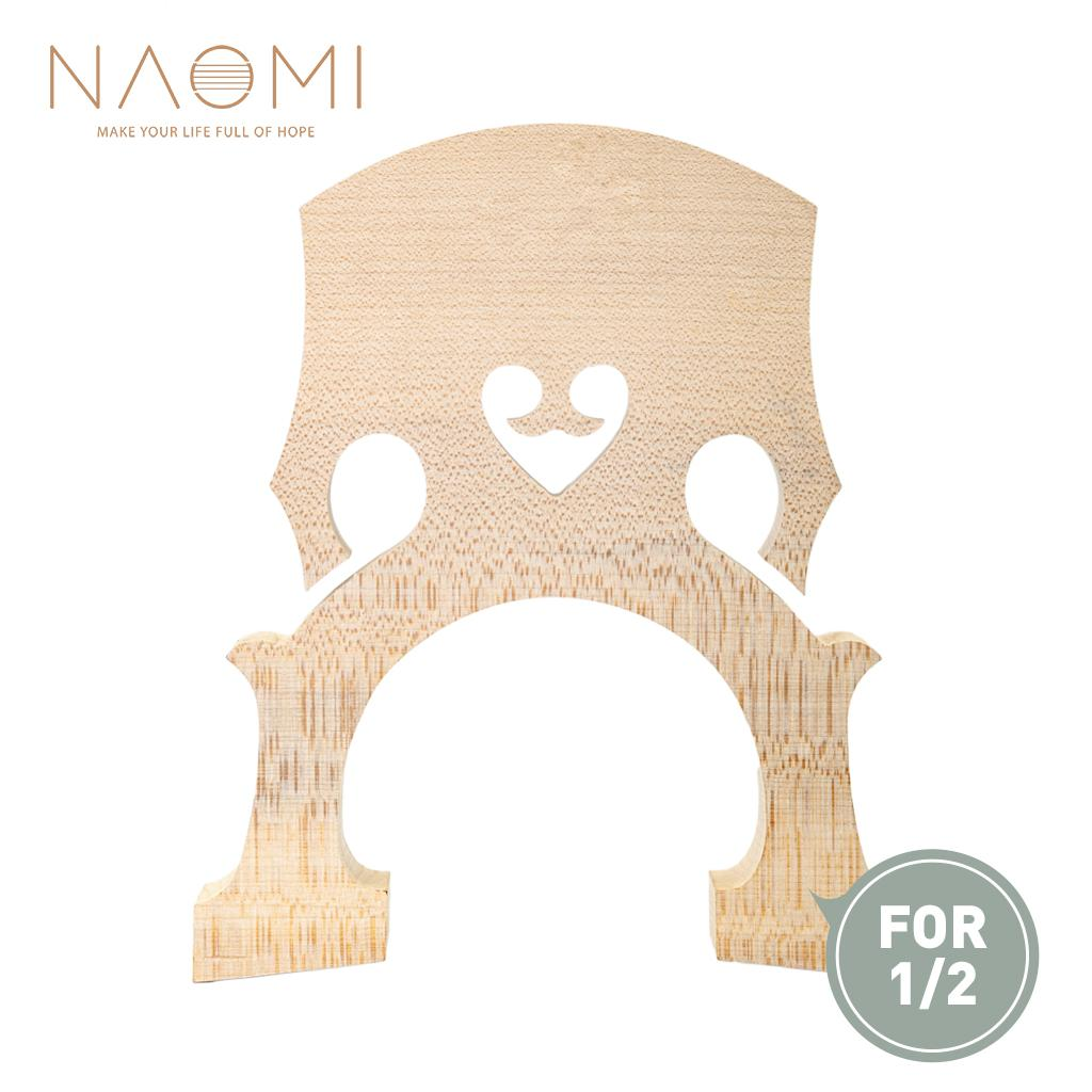 NAOMI Maple Wood Double Bass Bridge For 1/2 Double Bass Violin Family Parts & Accessories High Quality New