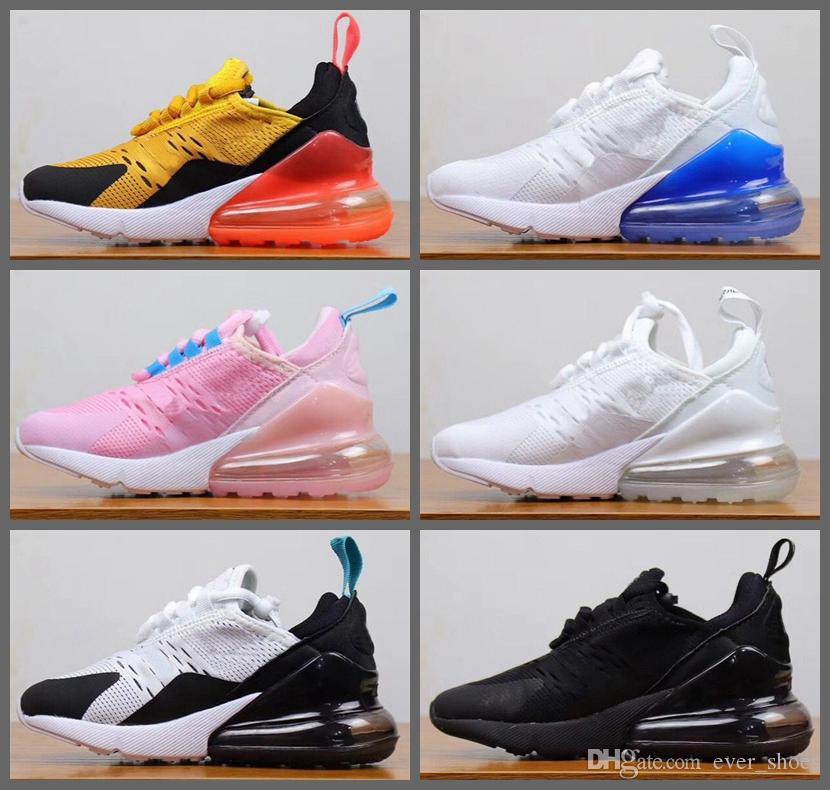 2019 New Kids Shoes Athletic Shoes Crianças 27c Lobo Running 270S cinza criança Esporte Sneakers para chaussures Boy menina da criança Enfants 28-35