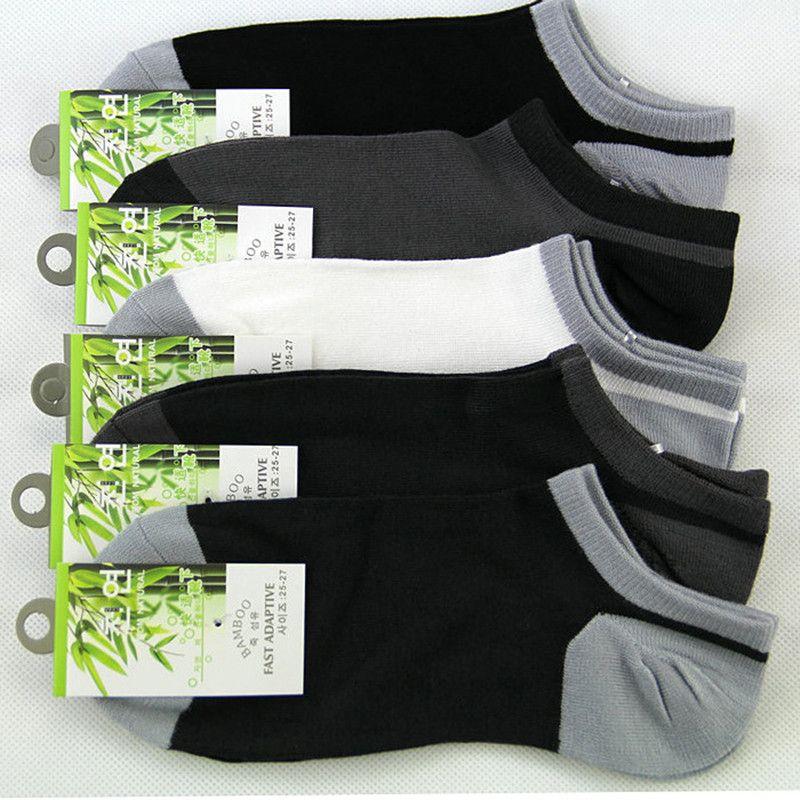 5Pair alta calidad de los hombres de bambú calcetines masculino ocasional colorido del cortocircuito del verano Calcetines hombre de la manera Todo-Fósforo del tobillo de los hombres vestido