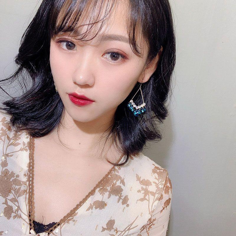 Fashion Stunning Blue Austrian Crystal Earrings for Girls Temperament Girl Earrings Trendy Women Jewelry Accessories LB