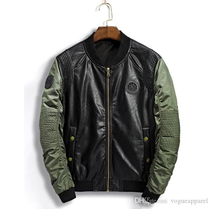 Kış Ceketler Erkekler İnce Yaka Bombacı Ceket Serin Casual Winderbreaker Ceketler Bombacı Coats Streetwear Sonbahar Giyim Standı