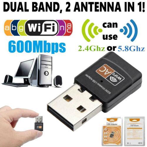 Бесплатная доставка 10шт беспроводной локальной сети USB PC WiFi сеть адаптера 802.11AC 600 Мбит / с Двойной полосы 2,4 г / 5 г РЧ
