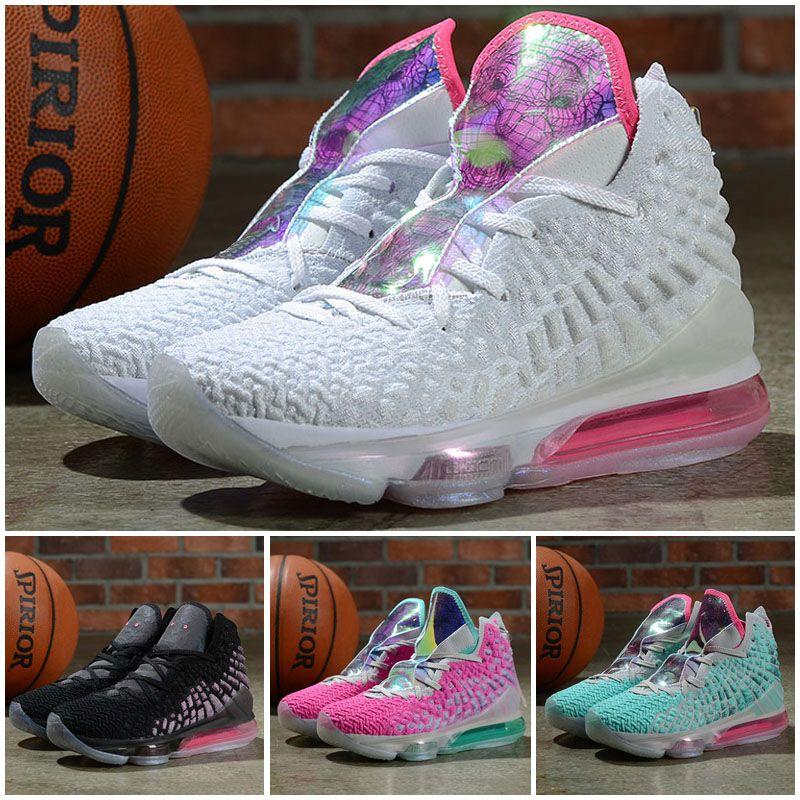 Haute qualité LeBron 17 XVII Future Outdoor Chaussures Lakers Oreo LeBron XVII Battleknit Designer Femmes Sport Sneaker Outdoor Chaussures Taille 36-40