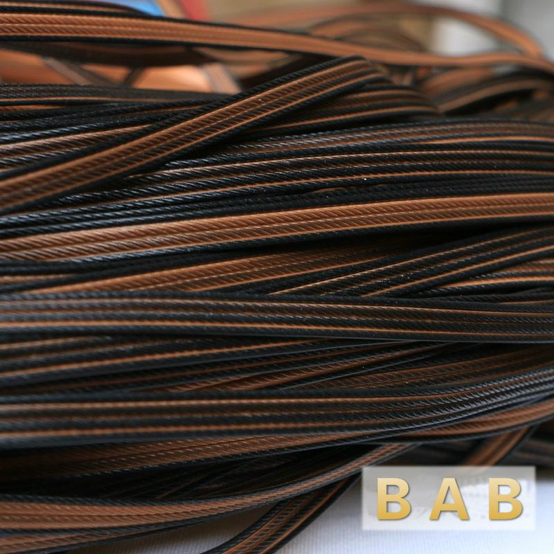 500g 60m Coffee Four lines flat synthetic rattan weaving material plastic rattan for knit and repair chair table etc