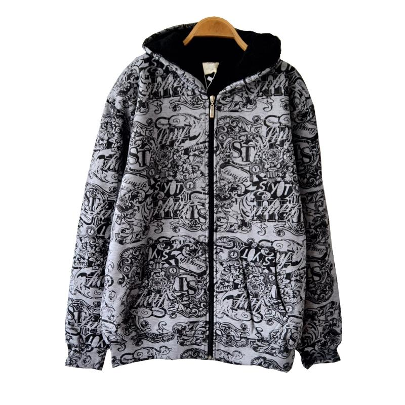 Fat inverno quintal grande casaco homens jaqueta moda acolchoado casaco de capuz cap hop Hip Grosso cordeiro