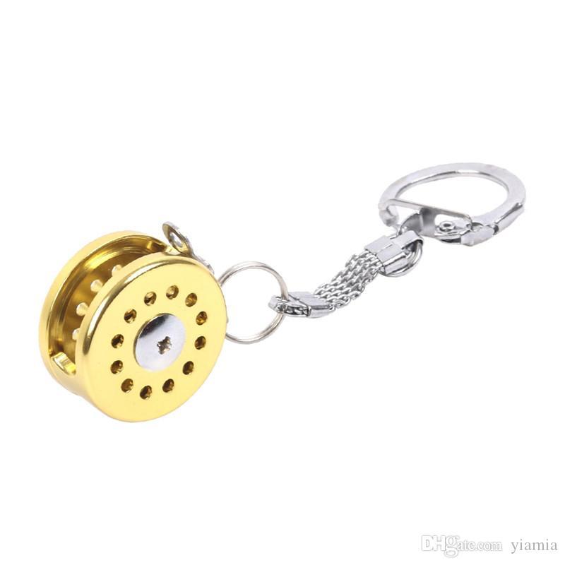 Nette Trolling Reel Modell Mini Angelrolle Schlüsselanhänger