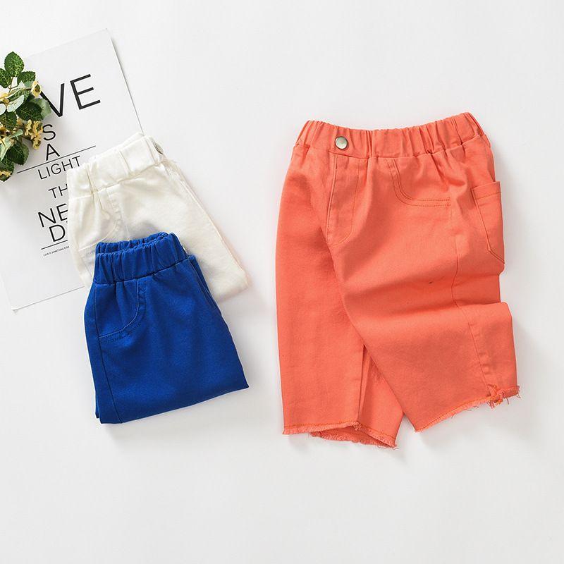 Filles Pantalons mince 2019 été nouveau style Big Boy Cotton Shorts enfants dans Pantalons FILLE Culottes Mode