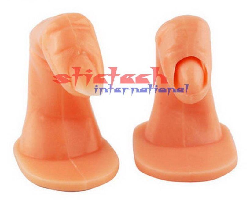 Por dhl ou ems 2000 pcs Útil Dedos Falsos de Plástico Prática de Treinamento da Arte do prego Unhas Postiças Cola Acrílico Dicas de Exibição Ferramenta