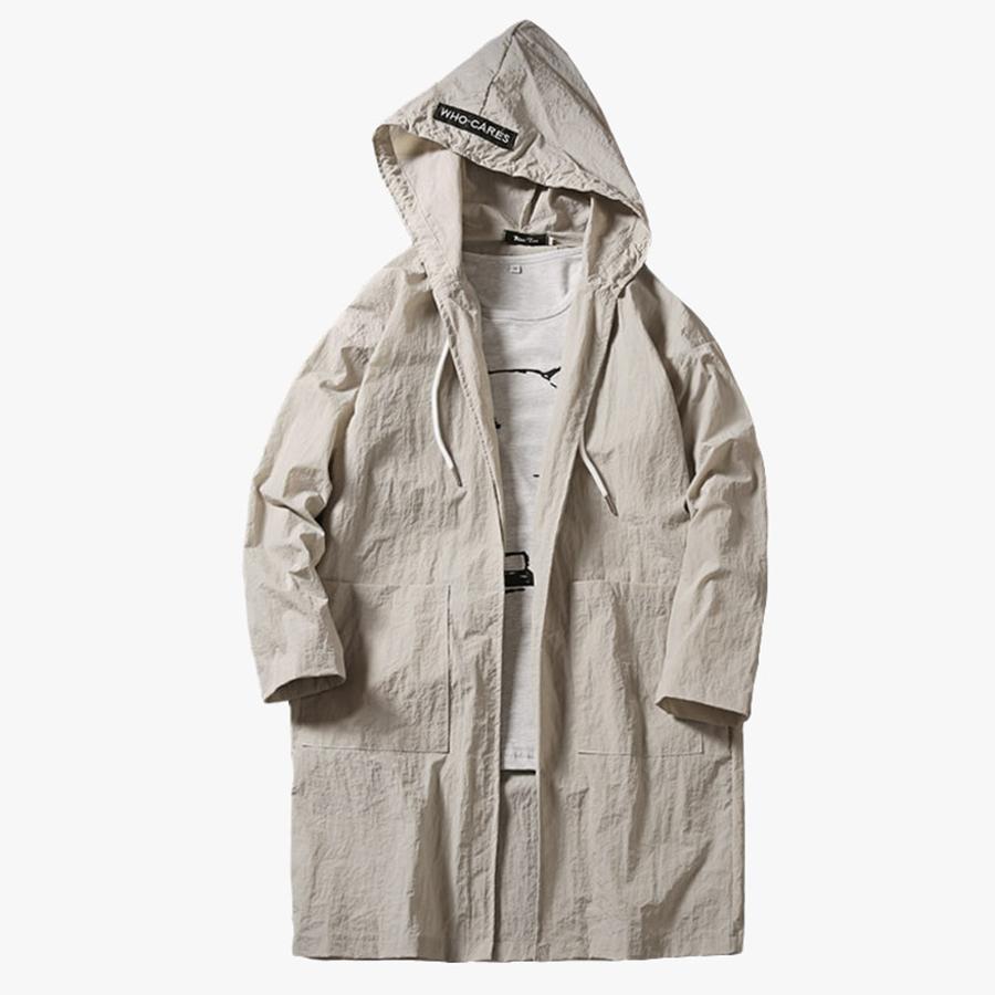 Тонкий пальто Мужчины Длинные Лето Худой Кардиган длинный капот защиты ВС Корейский Стиль Мужчины Мода Одежда Южная Корея 6F009