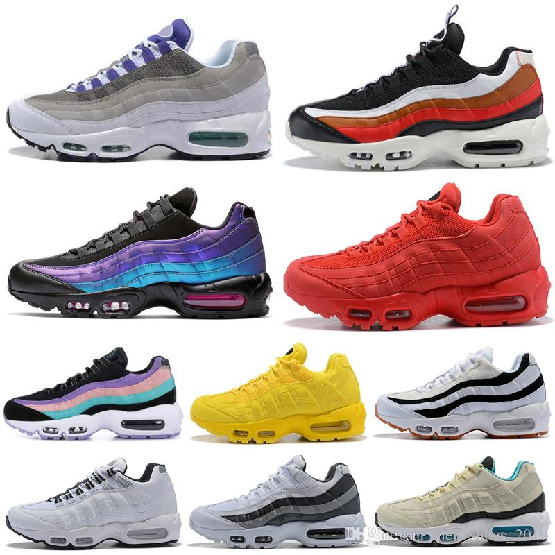 Nike Air Max 95 airmax Homens Mulheres Sapatos de Esportes OG Neon Laser Fúchsia todos os homens Amarelos Triplo preto branco Formadores Tênis tênis de corrida venda quente