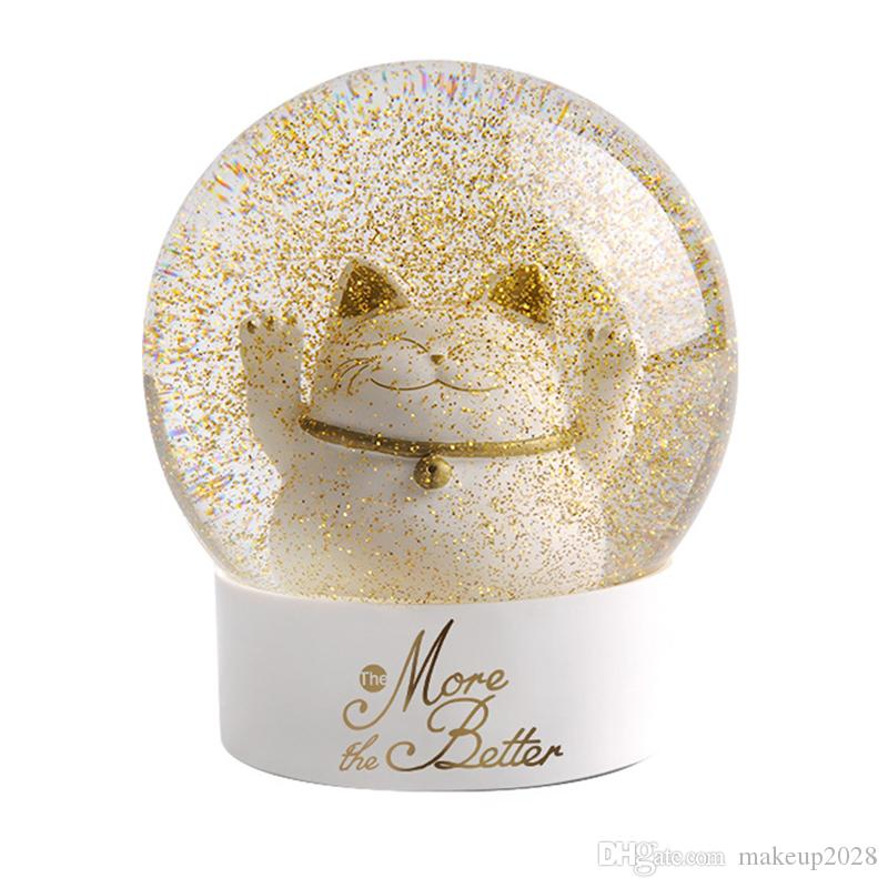 Lucky Cat Crystal Ball Glass Snowflake Glass Globe Old Water Polo Festival Supplies Arts Crafts Christmas Gifts Free DHL