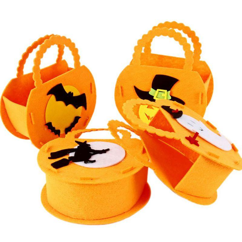 Halloween Pumpkin Candy Tote Bag Ghost Festival Mall Kindergarten Cookies Gift Bag Decoraciones de Halloween
