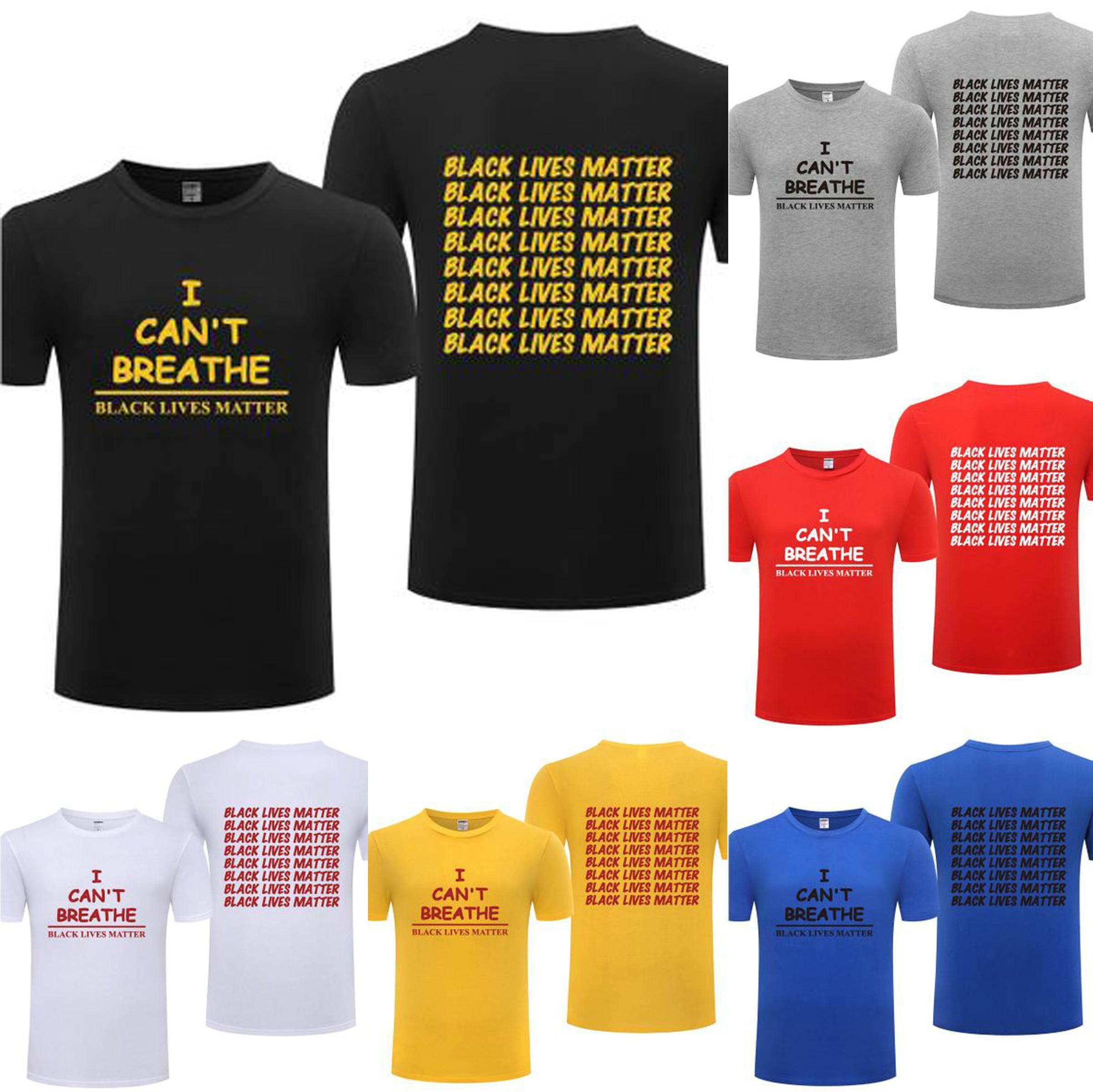 17 couleurs vie noir Matière Hommes T-shirt Lettre I Cant Breathe Tops 2020 Summer Streetwear Casual Parade Femmes New égalité Struggles