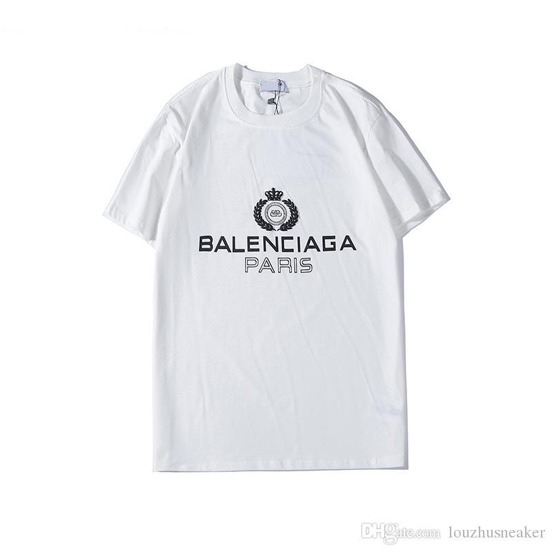 T-shirt New Street T-shirt col rond de mode simple lettre T-shirt à manches courtes hommes été étiquette coton respirant le S-XXL