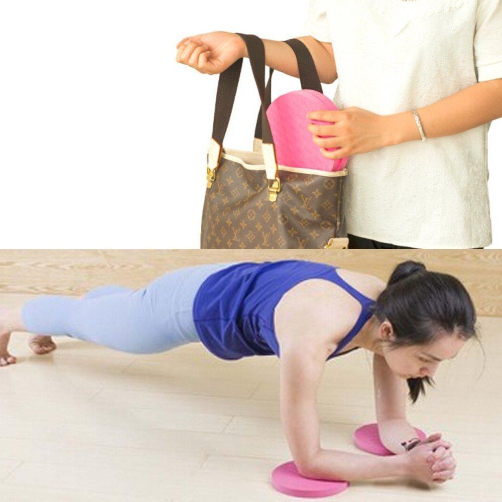 Eco Yoga Rodilla Pad Coj/ín de Entrenamiento Pack de 2 Ejercicio y Fitness Yoga de Espuma Almohadilla de Soporte