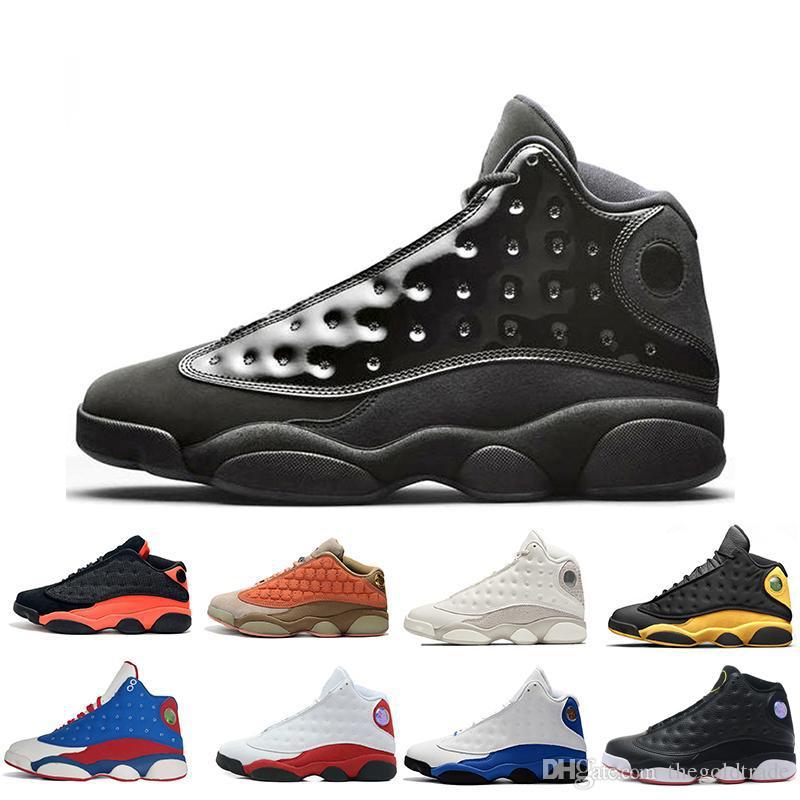 13 13s Mens Basketball обувь колпачок и платье Phantom Чикаго GS Hyper Royal Black Cat кремнем Разводят Браун Пшеница DMPLakers Соперники кроссовки женщин