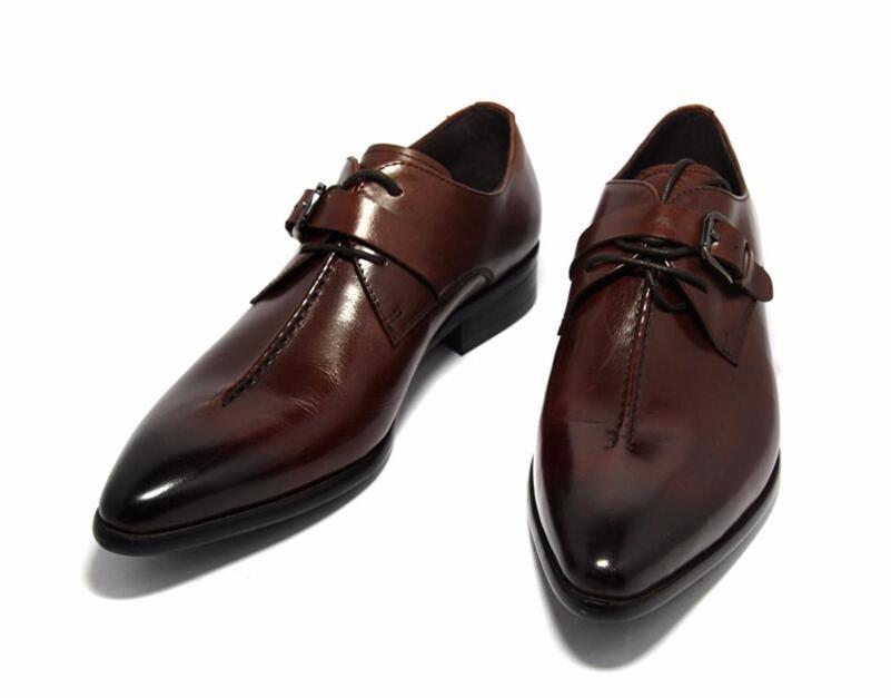 Hot hommes en cuir Vente-ne chaussures robe de mariée brun noir casual chaussures hommes