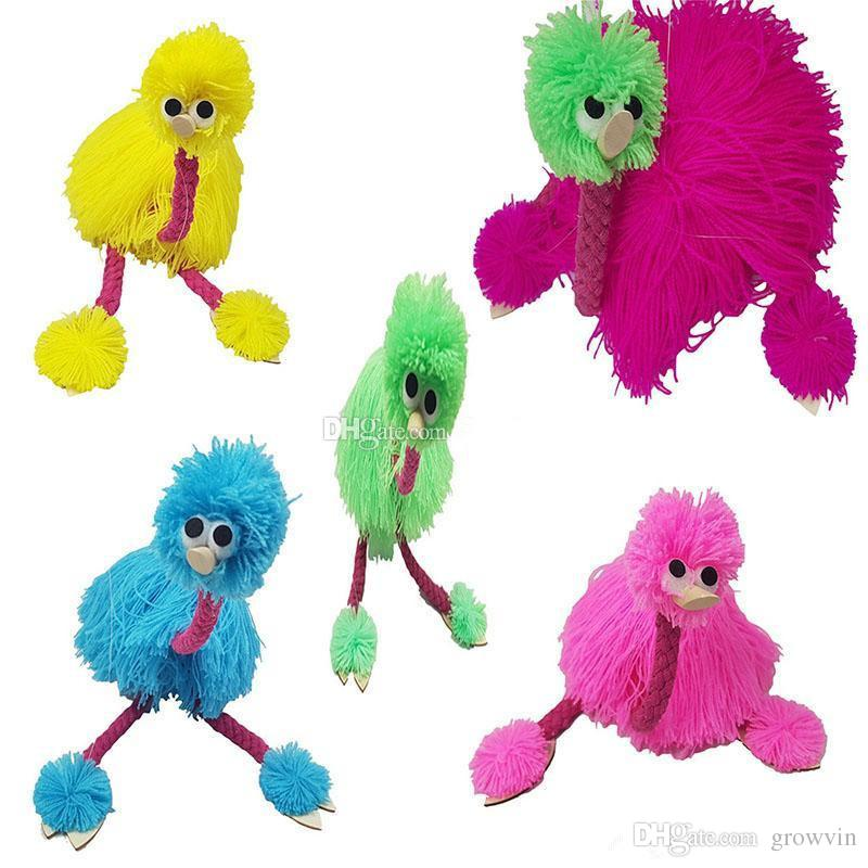 36cm/14inch Decompression Toy Marionette Doll Muppets Animal muppet hand puppets toys plush ostrich Marionette doll for kids 5 colors K23