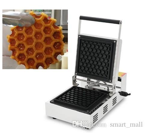Usage commercial antiadhésives 110v 220v électrique Honeycomb Forme gaufre de Liège Pop Maker Machine de fer Baker Plate à vendre LLFA