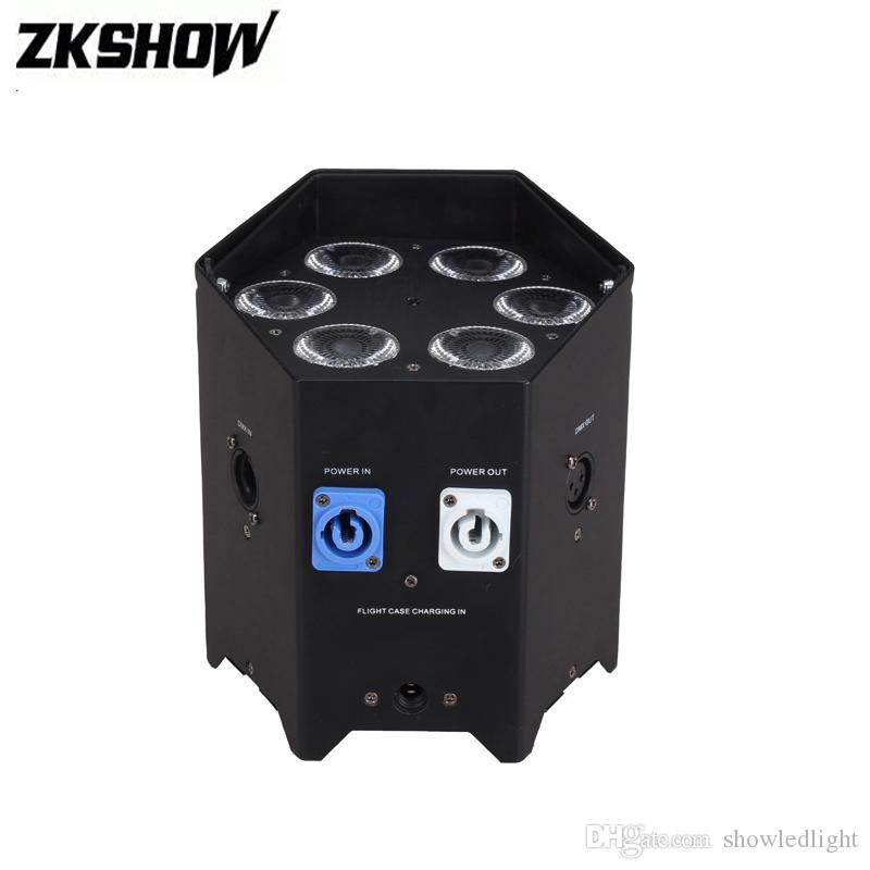 80% Discount 6*15W Rechargeable Battery Wireless Wash Par Light RGBWA+UV Luces DMX DJ Disco Party Stage Effect Lights Equipment Projector