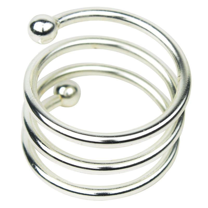 منديل دائري الشكل سبائك المشبك (فضية ، 4.5 سم)