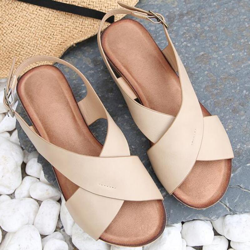Sapatos Mulher Sandals para o verão Platform Peep Toe Cunhas Heel Roma Shoes Buckle Praia senhoras Simples Casual Sandálias sh316