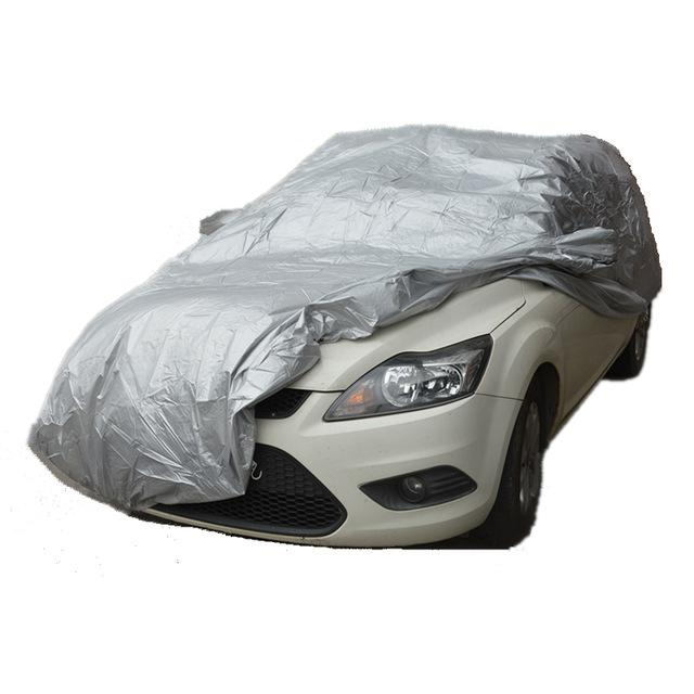 Waterproof UV Snow Full Car Cover Sun Rain Resistant Protection XL Size Silver