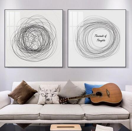 Abstract Minimalist Rhapsody of Lines Unique For Living art wall decoration hot sale popular poster 6