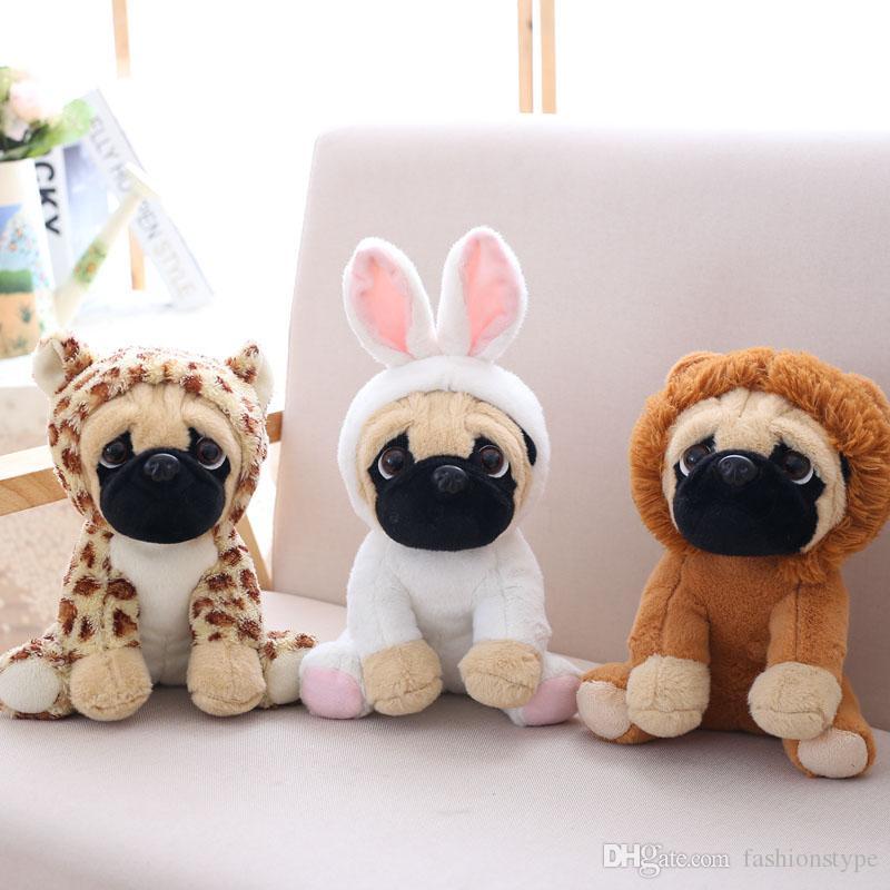 Pug 플러시 어린이 장난감 귀여운 동물 부드러운 인형 개 인형 개 코스프레 공룡 코끼리 아이 장난감 생일 어린이 크리스마스 선물 DHL