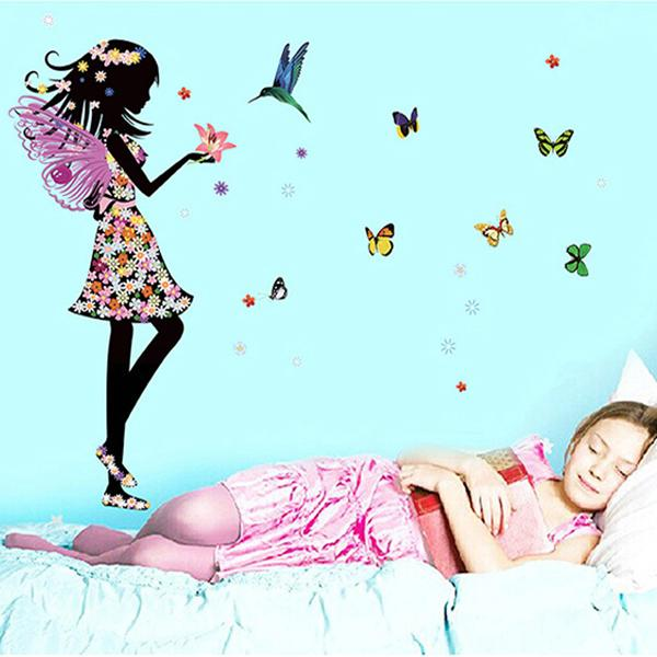 Free-shipping-Beautiful-Butterfly-Elf-Arts-Wall-Sticker-For-Kids-Rooms-Home-Decor-Backdrop-Wall-Decal