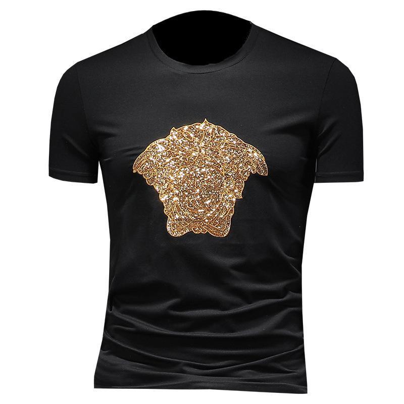 2020 de alta calidad de los hombres de manga corta de moda de verano camiseta casual cómodo cuello redondo camiseta ropa de moda YKFJDWX9