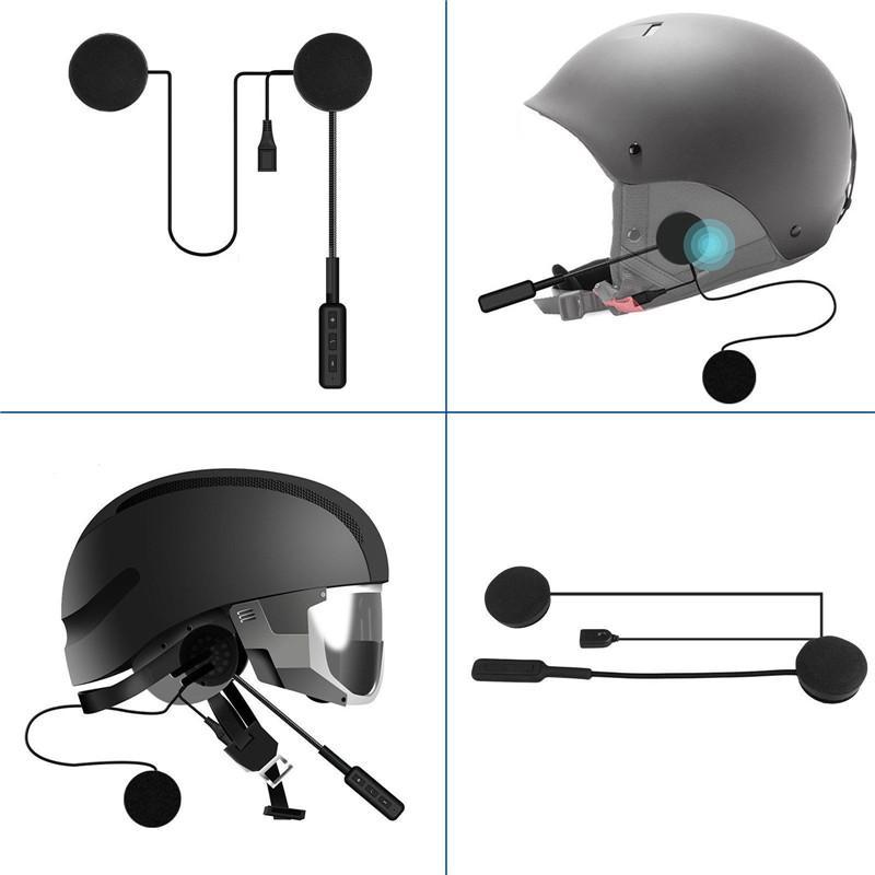 Capacete Bluetooth 4.2 Headphone Microfone Bicycle Helmet fone de ouvido Handsfree Speaker controle de chamada com Handsfree nova