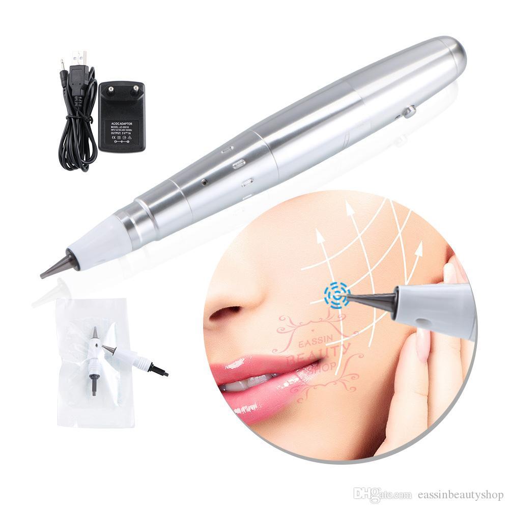 Derma elettrica Roller Penna Micro ago singolo rughe rimozione di ringiovanimento della pelle Macchina per acne cicatrici e guarigione delle ferite
