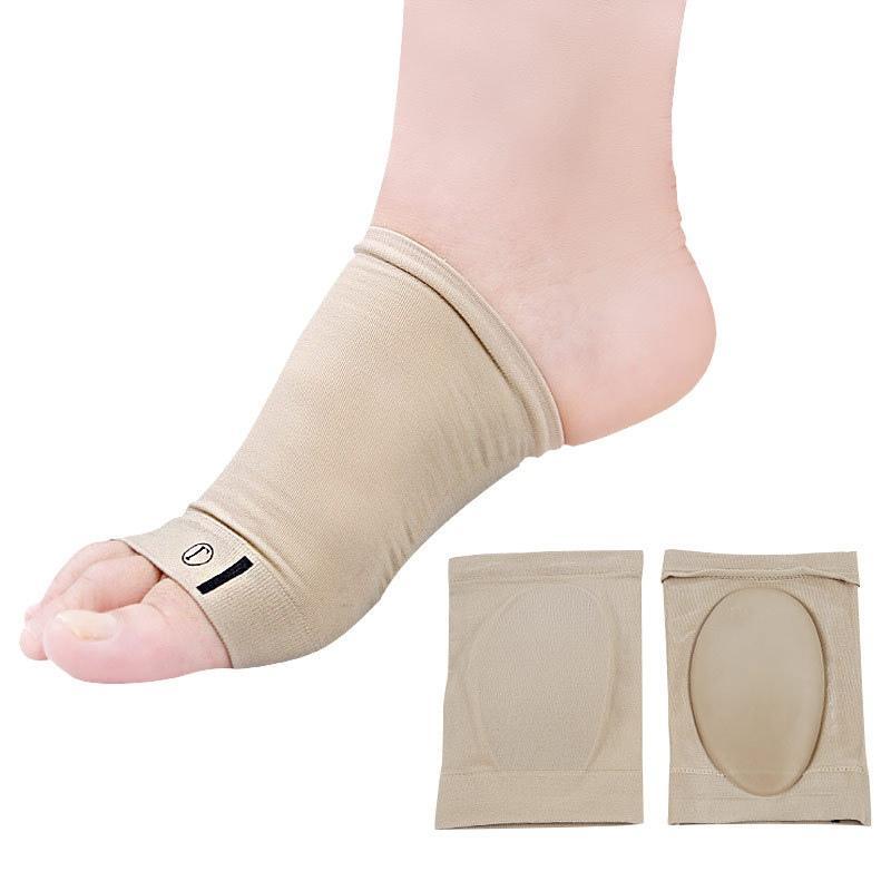 1PAIR جل تقويم العظام قوس الدعم باطن الوسادة العليا مطاطا ضمادة القوس شقة أقدام تصحيح الألم تخفيف