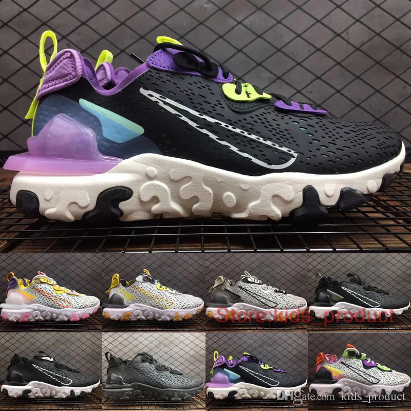 2020 React Element DMSX LVD Waffle Chaussures de course Hommes Femmes Concepteurs coussin d'air Be True Triple Noir Sports de plein air Chaussures Taille 5,5-11
