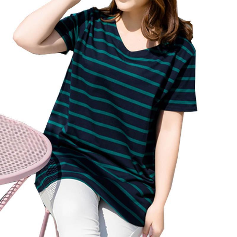 Compre Camiseta De Verano Para Mujer Tallas Grandes Camisa De Manga Corta Ropa De Mujer A Rayas Tops Casuales Envio Gratis A 13 33 Del Cinda01 Dhgate Com