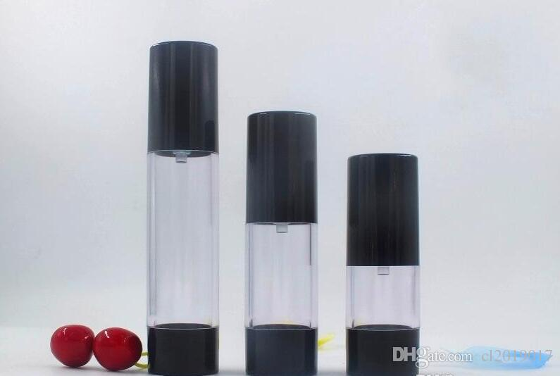 оптовая продажа горячей продажи новых 30 мл черный безвоздушного насоса бутылка пустая, 30 мл пластиковые безвоздушного многоразового использования