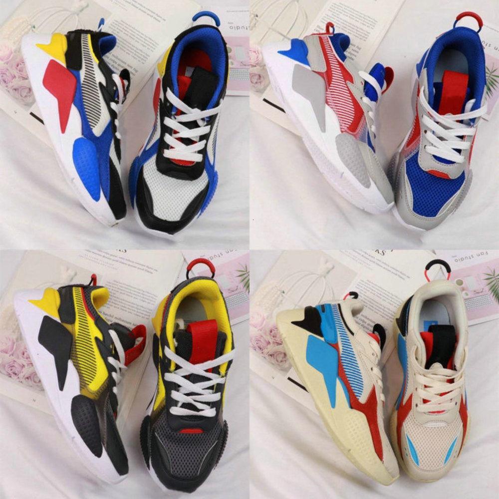 De alta calidad para niños de los zapatos RS-x de los zapatos RS X Reinvención Rs Entrenadores muchachas de los muchachos del bebé zapatillas de deporte Pour Enfants Deportes Niños Chaussures Tamaño 28-35