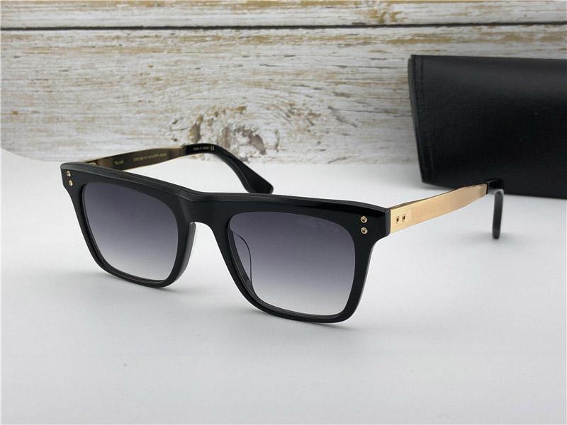 Nova moda óculos de sol dos homens projeto do vintage óculos TEL estilo fshion moldura quadrada UV 400 lente com caso