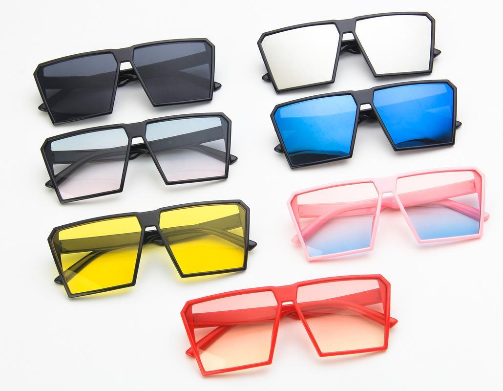 Новые детские ретро квадратные солнцезащитные очки личность мода мужчины и женщины Baby Trend Street Shooting мультфильм УФ защита