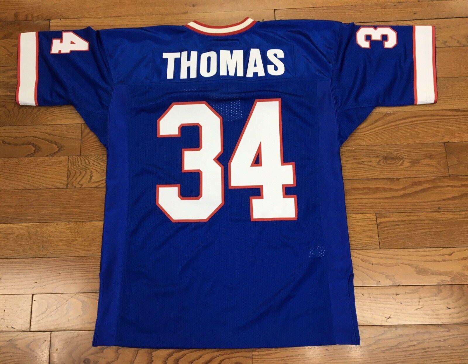Cheap personalizzato Thurman Thomas Mitchell Ness calcio Jersey ricamati Personalizza qualsiasi nome numero UOMINI DONNE GIOVANI XS-5XL